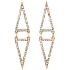 Vince Commuto Crystal Pave Triangle Earrings